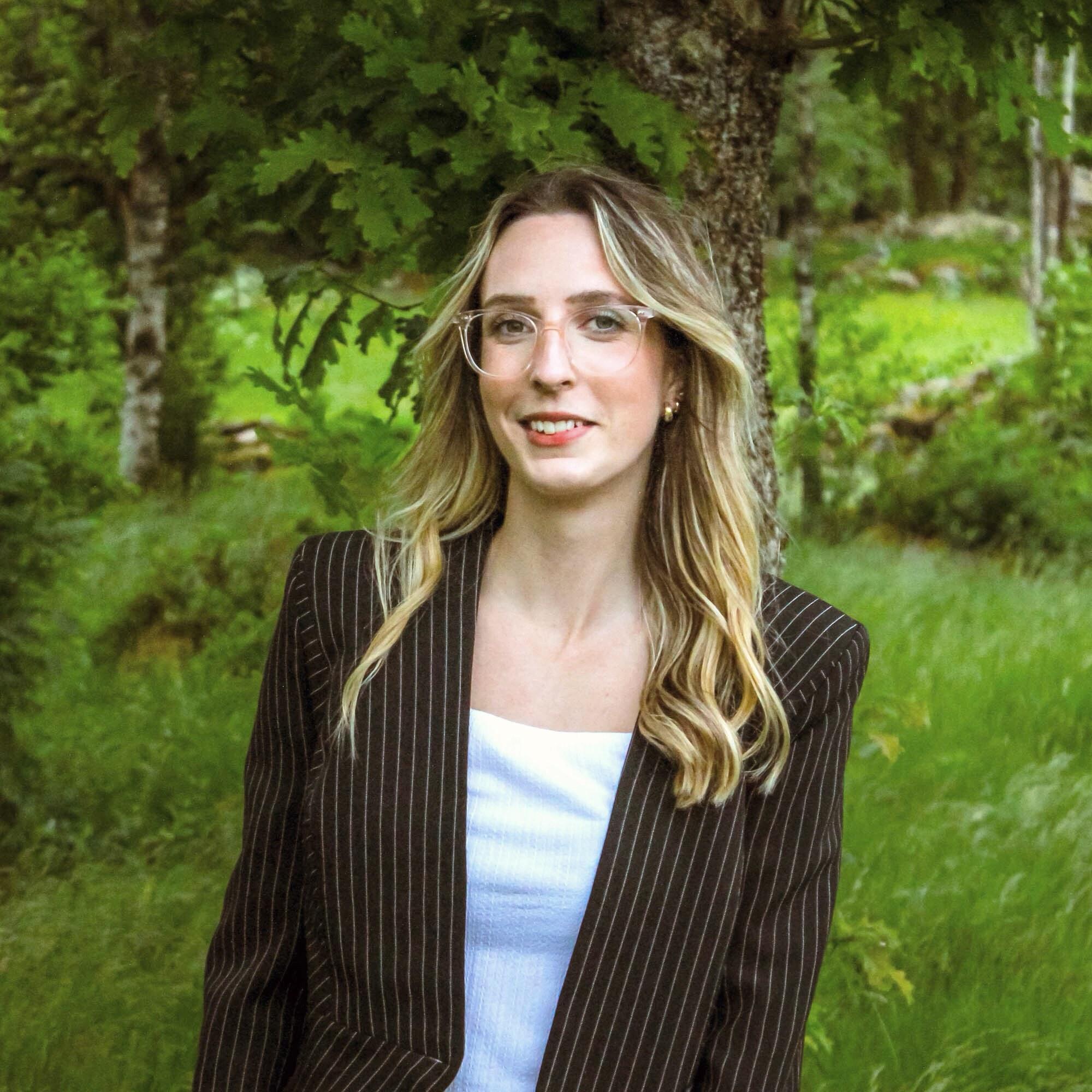 Annie Linsemark, kommunikatör på Lokalt Ledd Utveckling Halland.